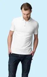Polo Neck Half Sleeve Men Collar T Shirt, Size: S M L XL 2XL