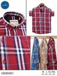 Men Check Shirt, Casual Wear