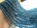 Natural Topaz 4 to 5mm Beads Rondelle Faceted London Blue Topaz Sold per Strand 13 Inches long