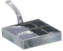 SS Hammered Square Pan Portion Dishes