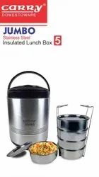 Jumbo-5 Stainless Steel Insulated Lunch Box