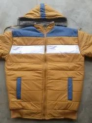 Casual Jackets Blended Full Sleeves Winter Jacket, Size: Large