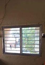 Aluminium Polished Rectangular Aluminum Window, For Home