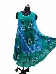Women Sleevless Rayon Dress