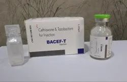Ceftriaxone 1mg + Tazobactam 125mg (With Wfi) Injection