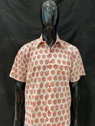 Button One Cotton Printed Men Shirts