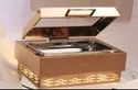 Grand Square 2/3 & 1/1 RG Glass Lid Feather Touch Chafer