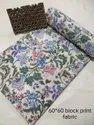 Sanganeri Hand Block Floral Print Fabric