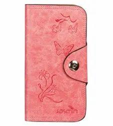 Pink Clutch Handmade Leather Stamp Designs Lady Handbag
