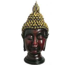 Golden Brown Shade Lord Buddha Decorative Piece