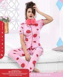 Hosiery Sleep Wear Girls Stylish Night Suit, Age Group: 16 To 25