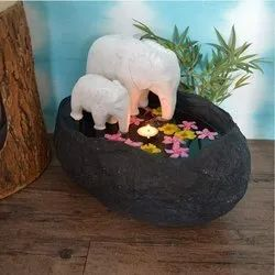 Elephant Pair Floating Pot / Urli