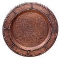 Smokey Finished Copper Show Plate-Charger Plate