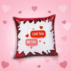 iKraft Sequin Magic Cushion Printed Design Me Too