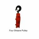 FOUR SHEAVE SAGGING PULLEY BLOCK