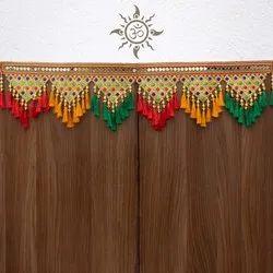 Traditional Kutchi Embroidery Cotton & Silk Lances Pylon (3 Feet)