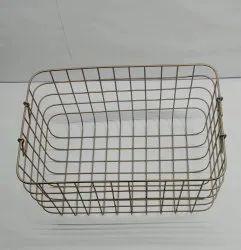 NEI Brass Stainless Steel Wire Kitchen Basket
