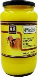 Farm Naturelle-100% Pure Desi Gir Cow Ghee From A2 Milk 1000 Ml - Glass Bottle