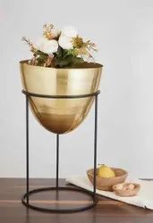 Decorative Iron Planter With Stand