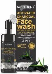 MEDIBAR natural Activated Charcoal Face Wash 150ML, Liquid, Age Group: Adults