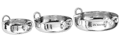 SS Hammered Mini Brazier/Flat Bottom Karahi Portion Dishes
