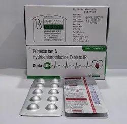 Telmisartan 40mg + Hydrochlorothiazide 12.50,mg Tablet