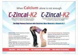 Calcium Citrate 1000 Mg  Calcitriol 0.25 Mg   Vitamin K2-7-50 Mcg Epa 90 Mg,  Zinc 22.5 Mg  Dha 60 M