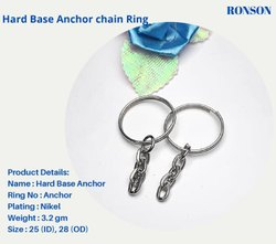 Mild Steel Anchor Keychain ring