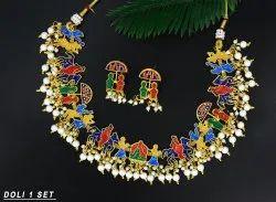 MIJ Brass Necklace, 1 Set
