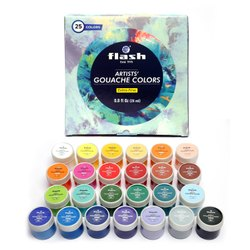 Flash Gouache Paint, Set of 25 Colors _ 5J-D44F-HFLM