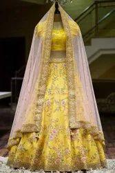 KCS Heavy Malay Silk Designer Embroidery Lehengas