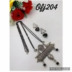 Oxidised necklace set