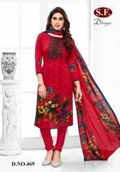 SF Divya Synthetic Ladies Suit Material, For Daily Wear