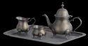 Antique Brass Tea Set