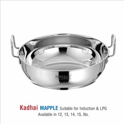 satinless steel kadhai -MAPPLE