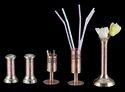 Copper Toothpick Stand, Bud Vase & Cruet Set