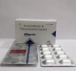 Aceclofenac 100mg & Paracetamol 325mg Tablets For Hospitals, Nursing Homes & Doctors