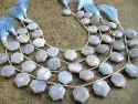 Natural Lavender Opal Mango Shape Briolette Beads 10x20mm Sold Per Strand 9 Inches Long