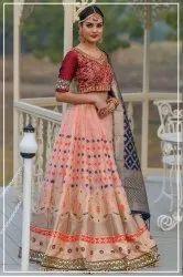 Woman Banarasi Silk Lehenga Choli