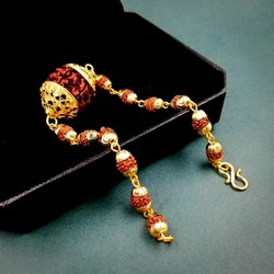 Panchmukhi Rudraksha Bracelet (panchdhatu)