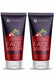 Blenqish Lychee Black Currant Face Wash Combo, Gel, Packaging Size: 100gm + 100 Gm