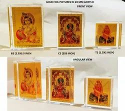 Acrylic Frames With Gold Plated Pictures