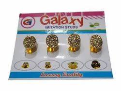 Golden Brass Galaxy Kurta Button