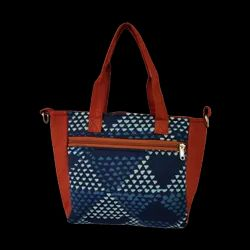 Indigo Blue Triangle Print- Pelican Handbag Cum Sling