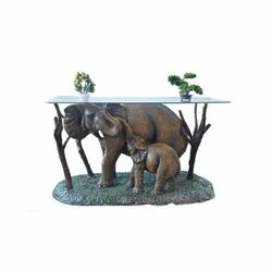 Elephant And Baby Elephant Dining Table For Glass Top