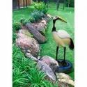 Siberian Crane White Small Bird Statue