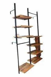 Brown Decorative Wooden Corner Rack, 8, Size: 4x8Feet