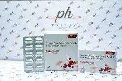 Ferrous Ascorbate Folic Acid Zinc Sulphate Tablet
