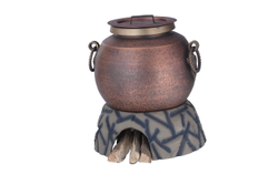Smokey Finished Copper Mughlai Soup Pot with Laddle