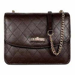 Plain Faux Leather The Clownfish Elora Cross Body Sling Bag For Women Office Bag Purse
